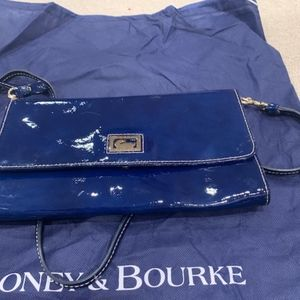 Royal Blue Patent Leather Dooney & Bourke Purse